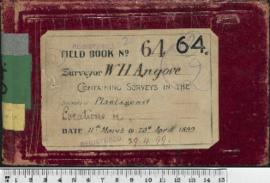 W.H. Angove Field Book No. 64