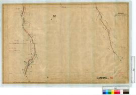 Road from Narrogin Brook School to Beenyup, by A.J. Lewis, Fieldbook 6, 9 [scale: 10 chains to an...