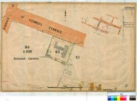 Perth 18/49. Plan showing survey of Lot B5 (Legislative Council, Brick cottage, sheds & tank)...