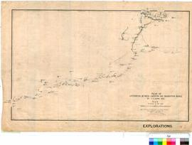 F.H. Hann - plan of exploration between Laverton and Warburton Range (Endorsed by Hann), July 1903.