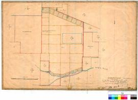 Gingin 10A. Granville as proclaimed 26 August 1869. Copied by E. C. Dean, Draftsman, showing Lots 1, 2, 29, 30 & 135, sold previous to abolition to the townsite in favour of Gingin, 11 Dec. 1871 [scale: 8 chains to an inch].