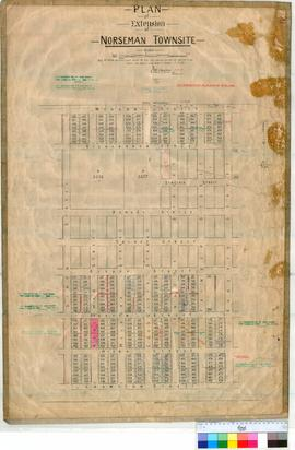 Norseman 88/2. Plan showing Lots in Norseman Townsite Lots 241, 250, 271-658 by W.H. Angove Field...
