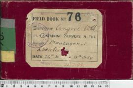 W.H. Angove Field Book No. 76. Containing surveys in the district Plantagenet locations