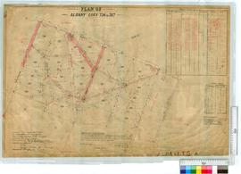 Plan of Albany lots 726-747. Plan by B.W. Ridley, Fieldbook 312 [scale: 2 chains to an inch].