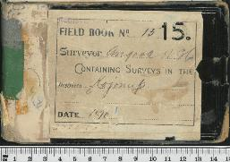 Field Book No. 15. W.H. Angove. Kojonup
