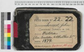 Field Book No. 22. Surveyor - Forrest, John. Containing surveys in the districts - Victoria (from Geraldton to the Abrolhos Islands)
