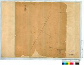 Location by A. Searles, Fieldbook 1, p 74 [scale: 30 chains to an inch] (342B/40). Townsite of Be...