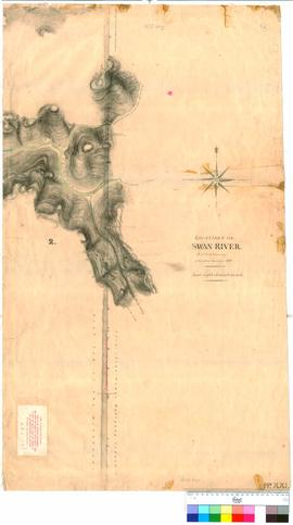Folio XXI. Plan showing area around Gatta River. P.L.S. Chauncy.
