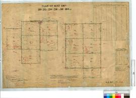 Locations 289-292, 294-298 and 301-304 by H. Russell, Fieldbook 106 [scale: 20 chains to an inch].