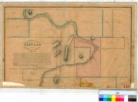 Northam 13B. Plan of boundaries proposed for Townsite of Northam showing Lots P1, P2, Q, R, C, A,...