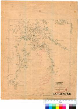 North-West Australia - chart compiled from the latest information in the Survey Office Perth, J.S. Roe, 1864 (addition by R.J. Sholl, 1865).