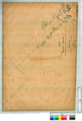 Locations on the Canning River by J.W. Gregory, later additions of roads [scale: 8 chains to an i...