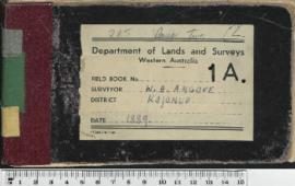 Field Book No. 1A.W.H. Angove. Kojonup