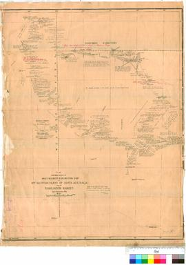 R.T. Maurice - route of Exploration trip to North-Western parts of South Australia and the Rawili...