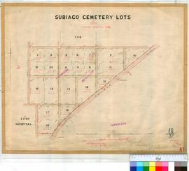 Perth 18/37. Suburban Perth - Plan of Subiaco Cemetery Lots [scale: 4 chains to an inch, Tally No. 005457].