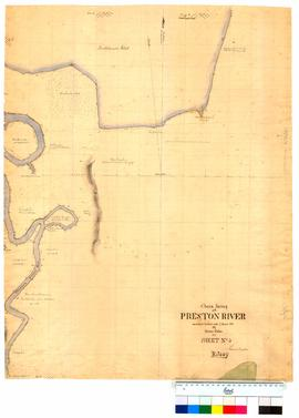 Chain survey of the Preston River by Thomas Watson, sheet 5 [Tally No. 005175].