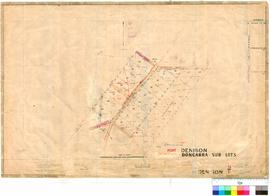 Denison 9/1. Port Denison - sub lots. J. H. M. Lefroy [scale: 3 chains to 1 inch].