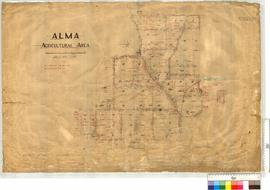 Alma Agricultural Area, Lots 1-42 by W.J. Crowther and N. Lymburner [scale: 20 chains to an inch].