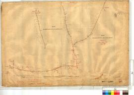 Road from Marradong North to Location 230 (Farmers) and westerly to Reserve 1396. Road from Marradong to Bannister. Sheet No. 1 by A.J. Wells, Fieldbook [scale: 10 chains to an inch].
