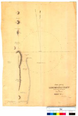 Chain survey of the Leschenault Inlet by Thomas Watson, sheet 4 (land held by P.A. Latour) [Tally...