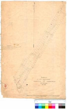 Fremantle 19D. Survey of some improvements in the townsite of Fremantle by F. T. Gregory, October...