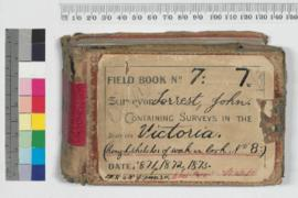 Field Book No. 7. Surveyor - Forrest, John. Containing surveys in the districts - Victoria (Rough sketches of work in Book.8)