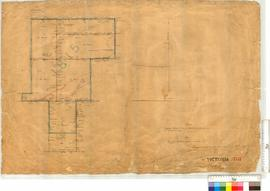 Plan showing Poison Runs (M. Brown's Location 1815) as surveyed by C. Evans [scale: 40 chains to an inch, Tally No. 005873].