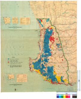 Map of the South West of Western Australia showing State Forests, Timber Reserves, Reserves &...