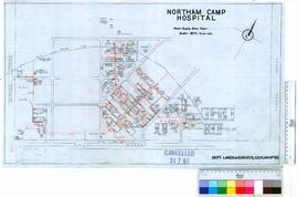 Northam Camp Hospital showing also water supply [scale: 80 feet to an inch].