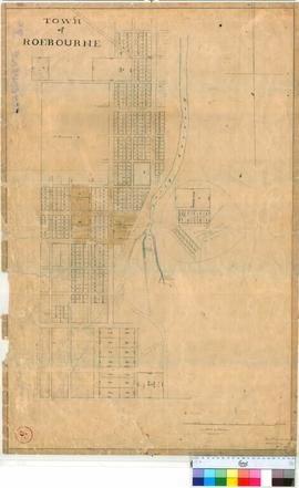 Roebourne 3C. Plan of part of Roebourne Townsite showing Lots west & east of River Hardinge. ...