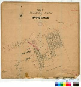 Broad Arrow 86/3. Plan of residence areas at Broad Arrow. G. W. Ellis.