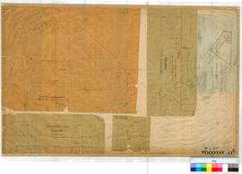 "Toodyay West 11C. Plan of West Toodyay showing 5 separate drawings. ""A"" by C. Evans 31/..."