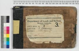 P.L.S. Chauncy Field Book No. 3