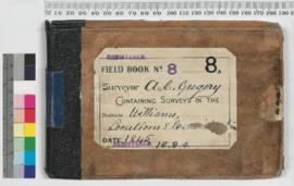 A.C. Gregory Field Book No. 8