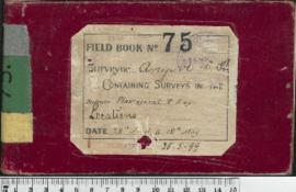 W.H. Angove Field Book No. 75. Containing surveys in the Plantagenet and Hay locations