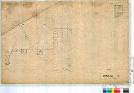 Plan South of Op 49 Sussex by R.S. Bartlett. Road by A. Forrest, later additions [scale: 20 chains to an inch].