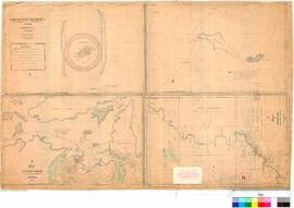 North-West Australia, J. Martin, 1864. (4 charts on 1 sheet) Chart 1: Bedout Island. Chart 2: Tre...