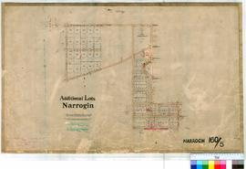 Narrogin 160/5. Plan showing additional Lots in Narrogin Townsite Reserves 6946 (Showground) &amp...