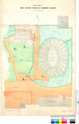 Sketch plan of north eastern portion of Government Gardens
