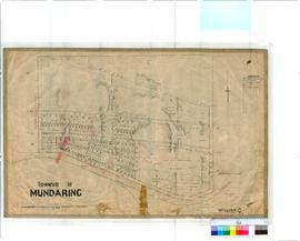 Mundaring 174. Plan of Mundaring Townsite showing Town Lots rail line from Perth to Chidlow'...