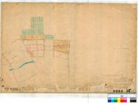 York 14E. Plan of part of York Townsite showing Lots 101-102 Reserve, 160-188 by W. Phelps. Lots ...