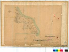 Toodyay (Newcastle) 12C. Plan of Toodyay showing Glebe & Pensioner Lots & Army Barracks i...