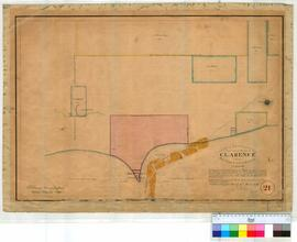 Clarence 21. Plan of boundaries proposed for the townsite of Clarence in Western Australia. A. Hi...