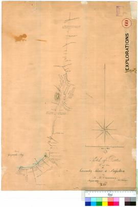 H.M. Ommanney - sketch of routes to and from the Canning River and Busselton, August 1839.