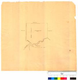 Map of 800 acre property belonging to George Menzies Bouglas on the Dandalup River & George Brook [Tally No. 005046].