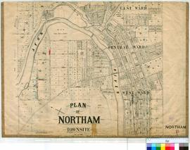 Northam 13/3. Plan showing various lots, roads & Avon River in Northam Townsite. Compiled for...