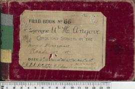 W.H. Angove Field Book No. 66