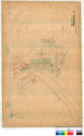Toodyay West 11B. Plan of West Toodyay showing Avon River and Lots facing the River and area vici...