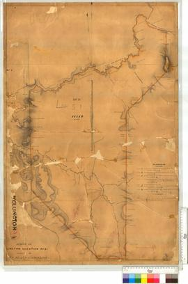 Location 51 (Map 30) with addition of the Collie Coalfield Railway line and roads surveys by H.M....