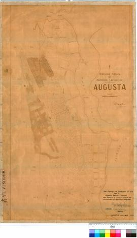 Augusta 28/4. Tentative design of proposed lay-out of Augusta.